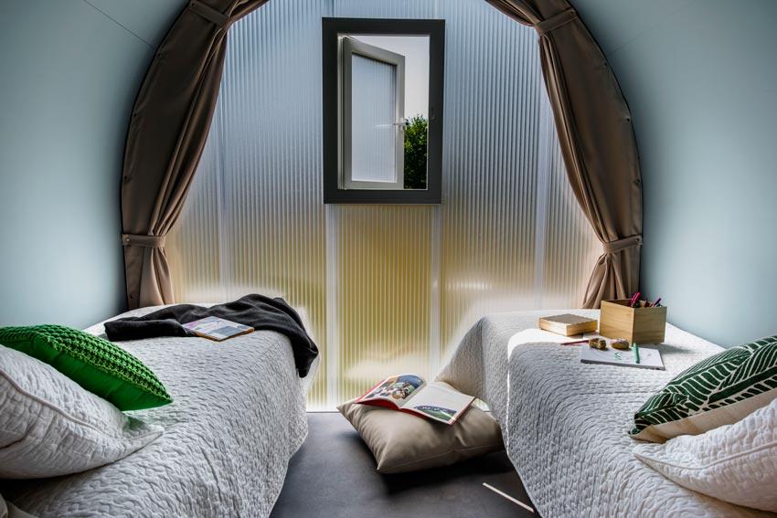 chambre 2 lits Cocorico camping pré de l'étang