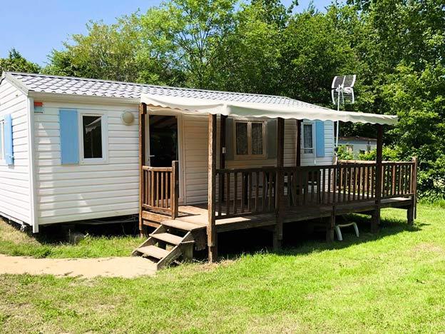 MH Confort avec terrasse camping pré étang
