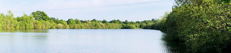 image a la une étang camping Vendée