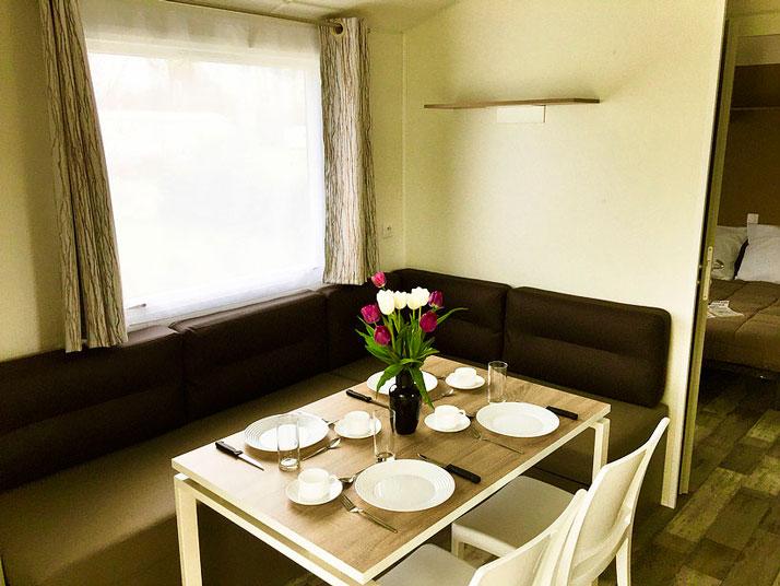 salle à manger MH Panama camping Vendée